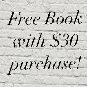 Free book with $30 purchase